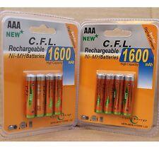 8x AAA 1600 mAh 1,2V Wiederaufladbar Aufladbare Batterien Akku Rechargeable Accu