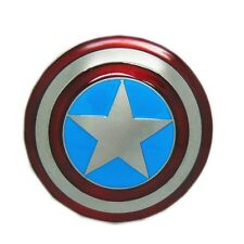 Western Cool Captain America Round Shield Belt Buckle Comic Super Heroes Fashion
