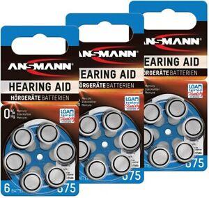 Pile auditive piles auditives 675 piles zinc-air 1,4V Modele 675 auditif pack x6