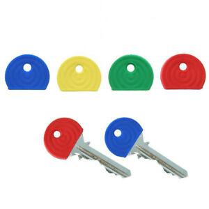 8 x Key Caps Coloured Covers Plastic Rubber Top Cap Cover Tag Door Identifier
