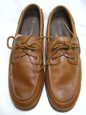 Rockport adiPRENE By Adidas Men's 10 M Casual Moccasins Tan Leather #83 JS