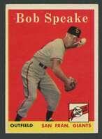 1958 Topps #437 Bob Speake EX/EX+ Giants 24427
