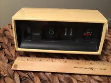 Vintage Caslon 701 Electric Flip Clock Mid-Century Art Deco Alarm - Tested