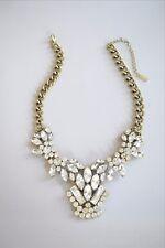 Crystal Bib Statement Necklace, Bubble Necklace, Bauble