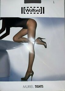 Wolford Muriel Tights Size: Large Color: Seal 14338 - 14