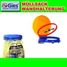GIES Gelber Sack Wandhalterung Müllsackständer Sackhalter stabile Wandmontage