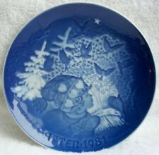 Bing & Grondahl 1981 Christmas plate-Juleneget-MINT-NR!