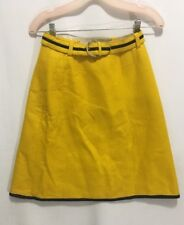 Vintage Yellow Wippette Sportswear Wool Felt Pencil Skirt Size 9 with Belt