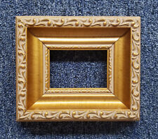 "2 1/2"" X 3 1/2"" ACEO ART Ornate Dark Gold Leaf  Wood Picture Frame Assembled"
