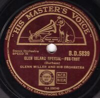 CLASSIC GLENN MILLER 78 PAGAN LOVE SONG / GLEN ISLAND SPECIAL  UK HMV BD 5839 E-