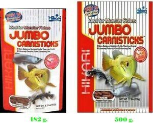 Hikari Jumbo carnisticks food sticks Arowana  pellet carnivore fish food