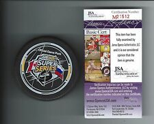 TYLER SEGUIN SIGNED SUBWAY SUPER SERIES 2009 OFFICIAL GAME PUCK JSA COA