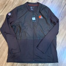 Cleveland Browns Nike On Field Apparel Mens Jacket Brown Zip Up Pockets XXL New