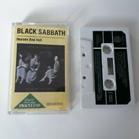 BLACK SABBATH HEAVEN AND HELL CASSETTE TAPE 1983 PAPER LABEL VERTIGO UK