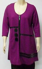 DUTCH DESIGNER YOEK,THEIR SIZE EXTRA LARGE,DEEP PURPLE TUNIC WITH FRONT DESIGN