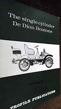 PROFILE PUBLICATIONS CAR #25: THE SINGLE-CYLINDER DE DION BOUTONS (1966)
