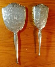 Vintage Birks Sterling Silver Vanity Mirror & Brush Set