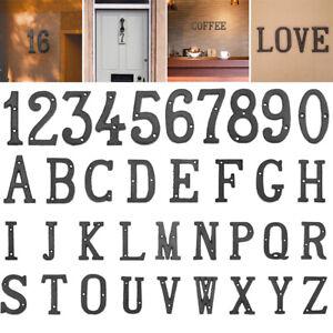 Cast Iron Metal Numbers Letters Alphabet Symbols Creative DIY House Door Sign