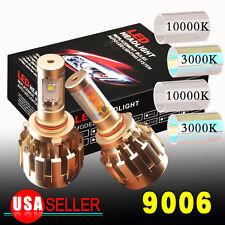 2x 9006 80W NEW HID White Gold  HB4 LED Headlight Conversion Kit Bulbs US