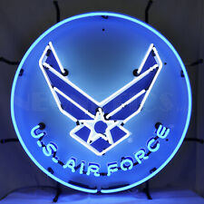 New Real Neon Sign U.S. Air Force hand blown Glass wall lamp light Pilot Art