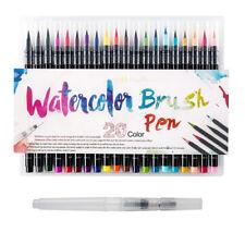 20 Colors Watercolor Drawing Painting Brush Artist Sketch Manga Marker Pens Set