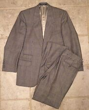 Timeless Classic Vintage WINDOWPANE 2 Peice Suit MADE IN FRANCE Noblet 40R 32X30