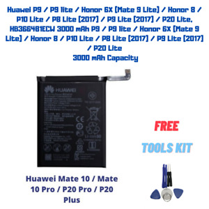 OEM Original Battery For Huawei P9 P9 lite P10 Lite P10 P8 P20 Lite HB366481ECW