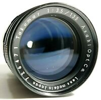 Pentax Takumar 135mm F3.5 Preset Telephoto Prime Lens with Hood UK Fast Post
