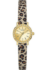 GUESS W0885L4,Ladies Dress,Stainless Steel,Animal Print Strap,Gold-Tone,WR