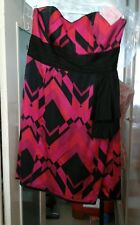 MONSOON PURPLE & BLACK SILK DRESS SIZE 18 GREAT FOR A WEDDING ETC