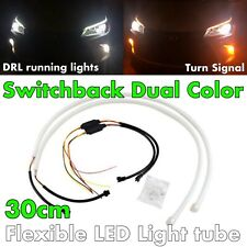 30cm Switchback Universal Rubber LED DRL Flexible Turn Signal For BMW A V