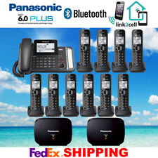 PANASONIC KX-TG9582B 2-LINE 1 CORDED - 10 CORDLESS PHONES - 2 REPEATERS - NEW