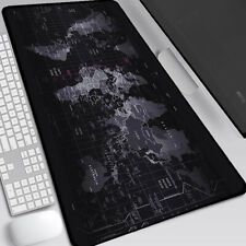 More details for non-slip world map design wide large computer mouse pad desk mat 80*30 earth map