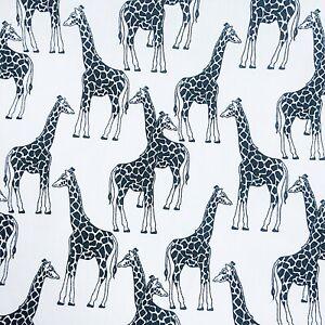 Black White Animal Print Giraffe PolyCotton Craft FABRIC Material