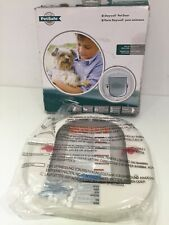 UNUSED PETSAFE SAFEWELL 4WAY LOCKE PET SMALL DOG BIG CAT FLAP DRAUGHT EXCLUD R63