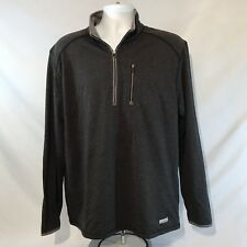 GH BASS EXPLORER 1/4 Zip Poly-Tricot Sweatshirt Pullover Size Large