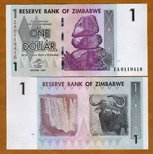 Zimbabwe, $1, 2007 (2009) P-65r, UNC > Scarce ZA Replacement