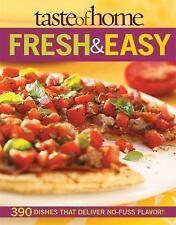 """NEW! TASTE OF HOME """"FRESH & EASY"""" COOKBOOK"""