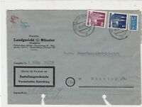 German 1950 MunsterW Cancel Obligatory Tax Aid for Berlin Stamps Cover Ref 26796