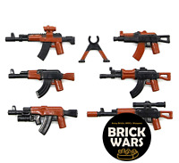 7 Guns Lot WW2 AK Military SWAT POLICE Toy Weapons for LEGO Minifigures