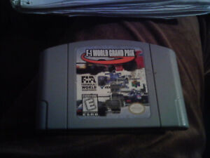 Nintendo 64 Game Pack 1997 F-1 World Grand Prix racing game gray case used