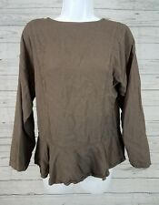Su Zen Long Sleeve Top Sz One Size Back Buttons Rayon