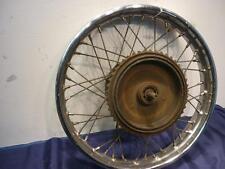 Royal Enfield Rear Wheel, WM 3 x 18 Dunlop Rim  Missing Brake Plate         D729