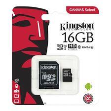 Kingston Micro SD 16GB SDHC Memory Card Microsd TF Mobile Phone Class 10 80MB/s