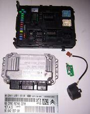 Dispositivo de control + BSI peugeot 307 1,6l 16v nfu 0261201610 9664255780 194096 ecus