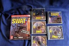 Police Quest Swat and Swat Disks (5), plus Prima's Strategy Guide, Free Shipping