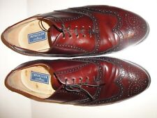"BOSTONIANS ""IMPRESSIONS"" MAROON BROGUE WINGTIP OXFORDS MENS SHOE SIZE 11 EEE"