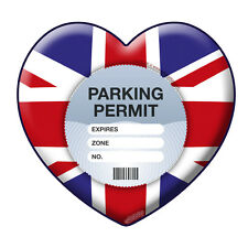 PARKING PERMIT Holder LOVE UK self-cling window graphic, decor – Freepost