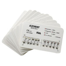 20X Dental Orthodontic Brackets Metal Standard Roth Slot 018 Hooks 3-4-5 AZDNET