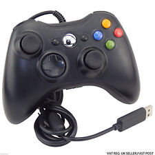NEW BLACK WIRED CONTROLLER FOR MICROSOFT Xbox 360 1 YEAR WARRANTY UK SELLER